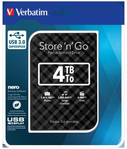 Переносной жесткий диск Store�'n'�Go с интерфейсом USB 3.0, 4�Тб (черный)
