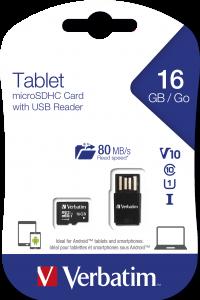 microSDHC Tablet U1 con lettore USB 16 GB*