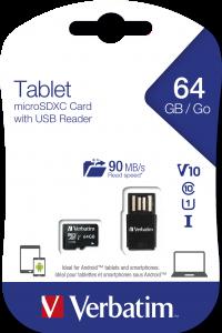 Tablet U1 microSDXC Card with USB Reader 64GB*