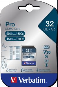 Verbatim Pro U3 32GB* SDHC Card