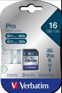 Verbatim Pro U3 16GB* SDHC Card