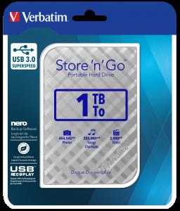 Переносной жесткий диск Store�'n'�Go с интерфейсом USB 3.0, 1�Тб (серебристый)