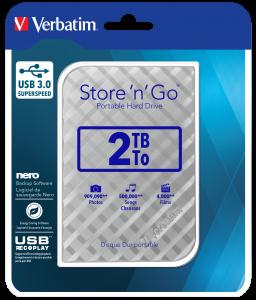 Disco Duro Portátil Store 'n' Go USB 3.0 de 2 TB en color Plateado