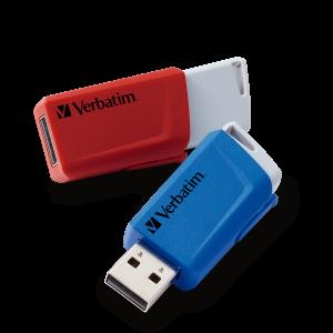 Store 'n' Click USB Drive 2 x 32GB* Red / Blue