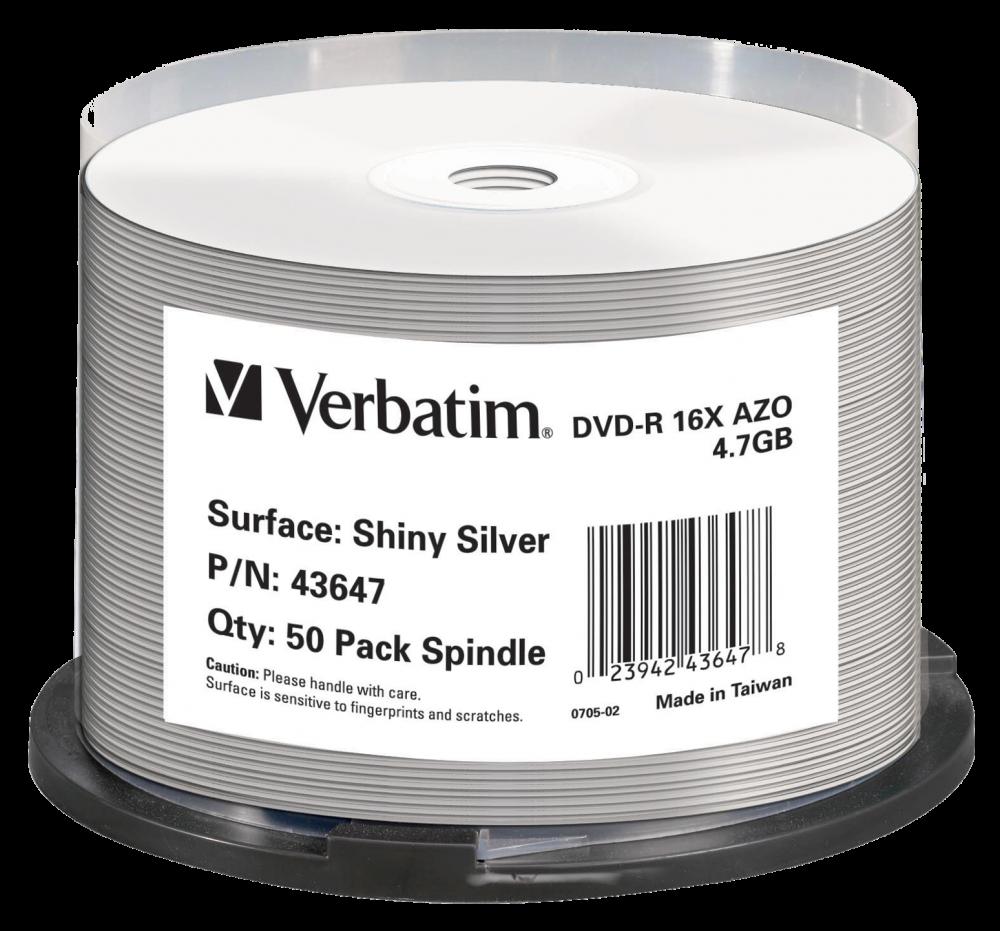 DVD-R Shiny Silver AZO
