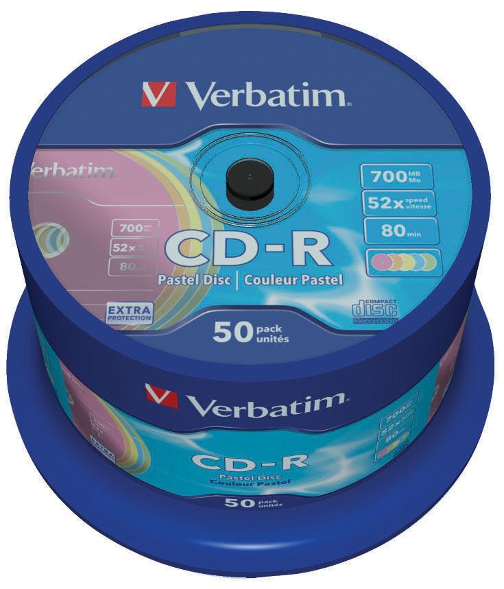 CD-R Pastel Colour