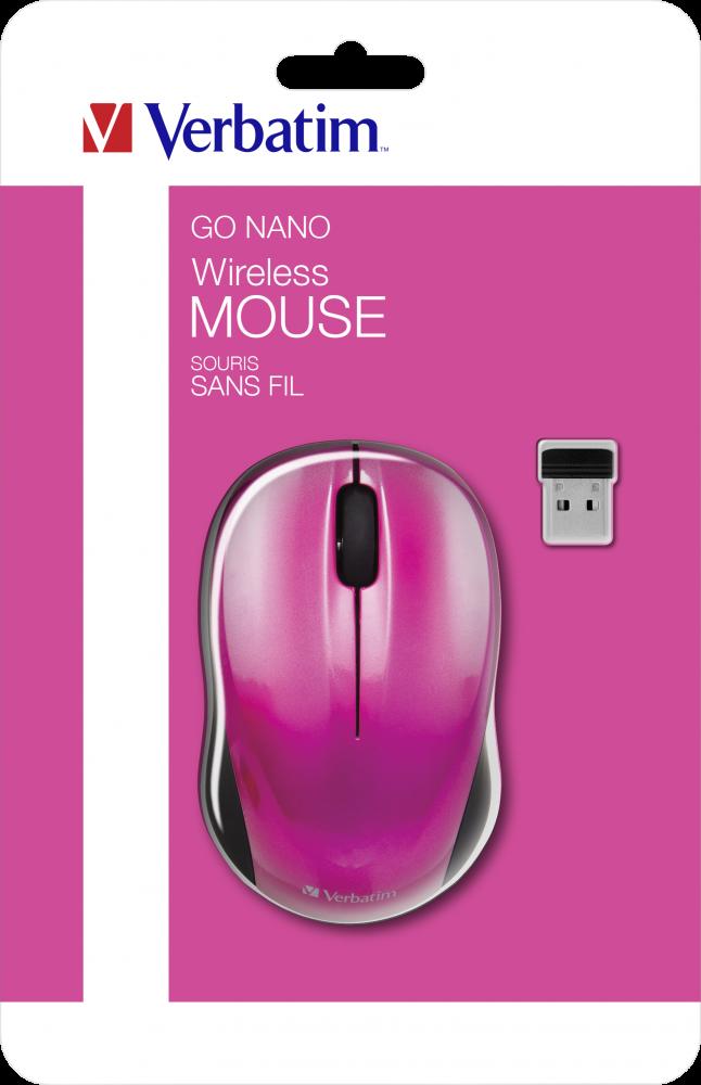 Ratón inalámbrico GO NANO - Fucsia