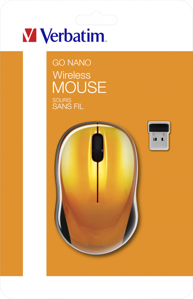 Souris sans fil GO NANO orange volcanique