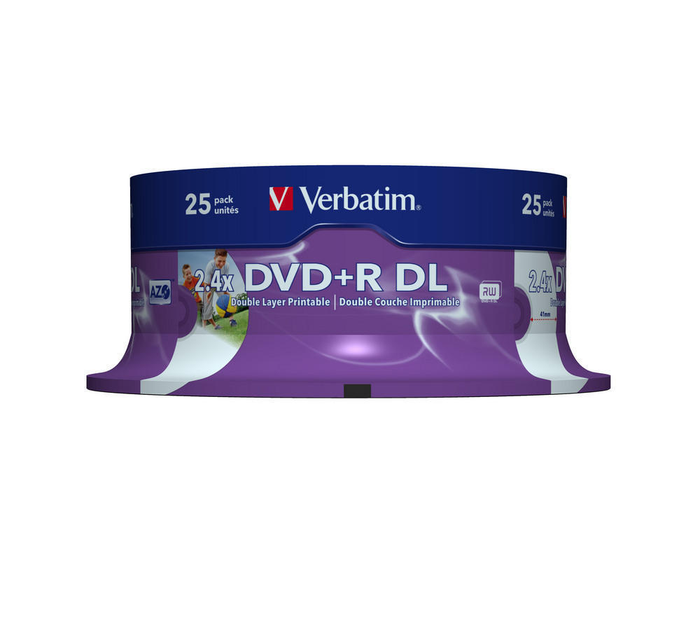 DVD+R Double Layer Inkjet Printable 2.4x
