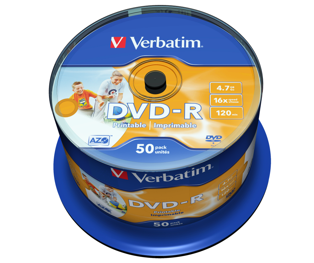 DVD-R Wide Inkjet Printable No ID Brand