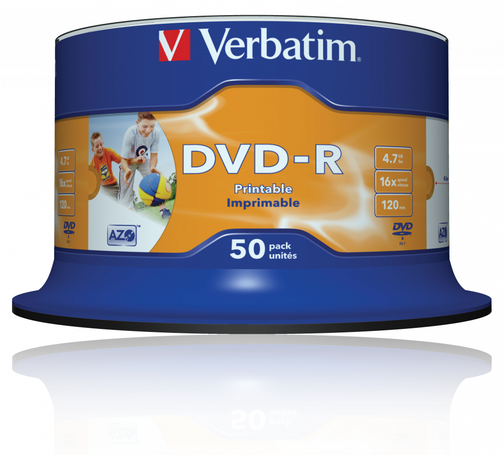 Buy Printable DVD-R Discs | DVD-R Wide Inkjet Printable
