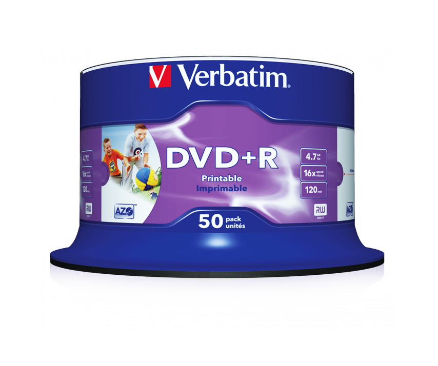 DVD+R Wide Inkjet Printable No ID Brand