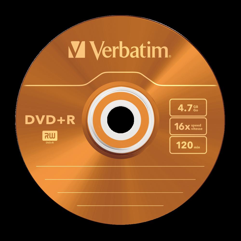43556 DVD+R Colour Global Disc Surface Orange