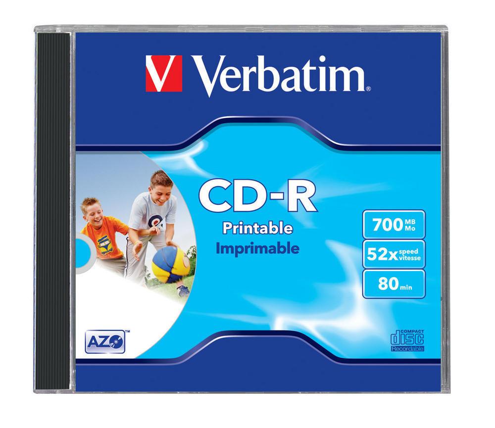 CD-R AZO Wide Inkjet Printable-No ID