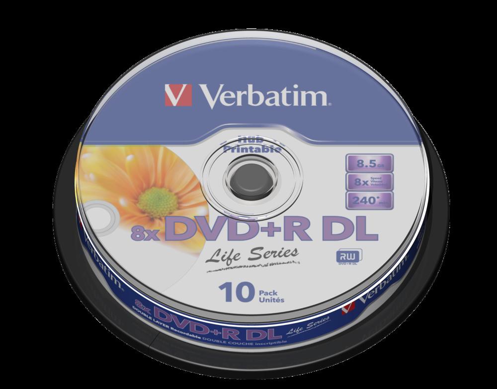 DVD+R Double Layer Inkjet Printable 8x Life Series
