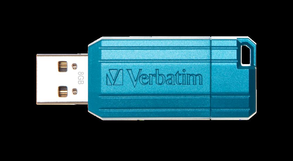PinStripe USB Drive 8GB* - Caribbean Blue