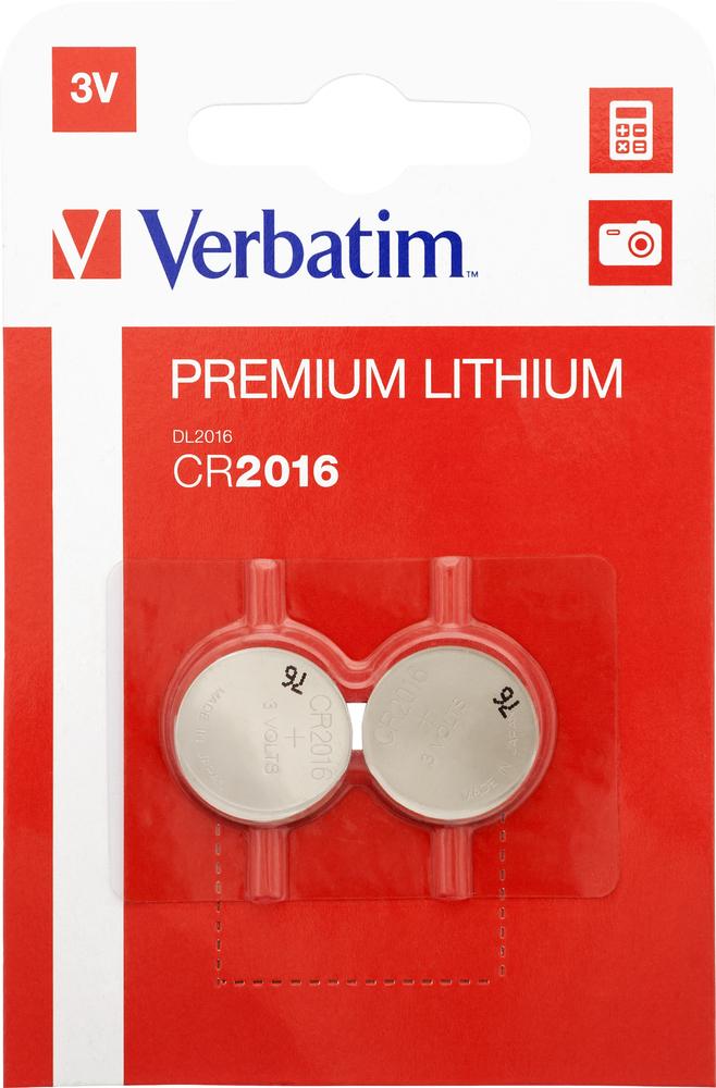 CR2016 3V Lithium Battery (2 pack)