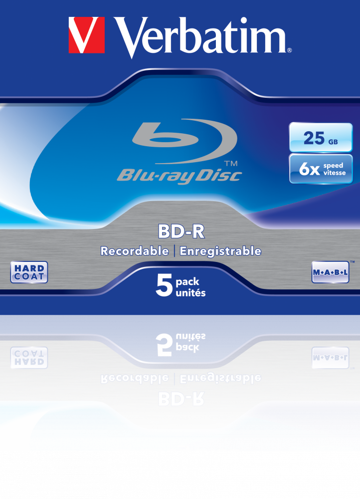 BD-R SL 25GB* 6x 5 Pack Jewel Case