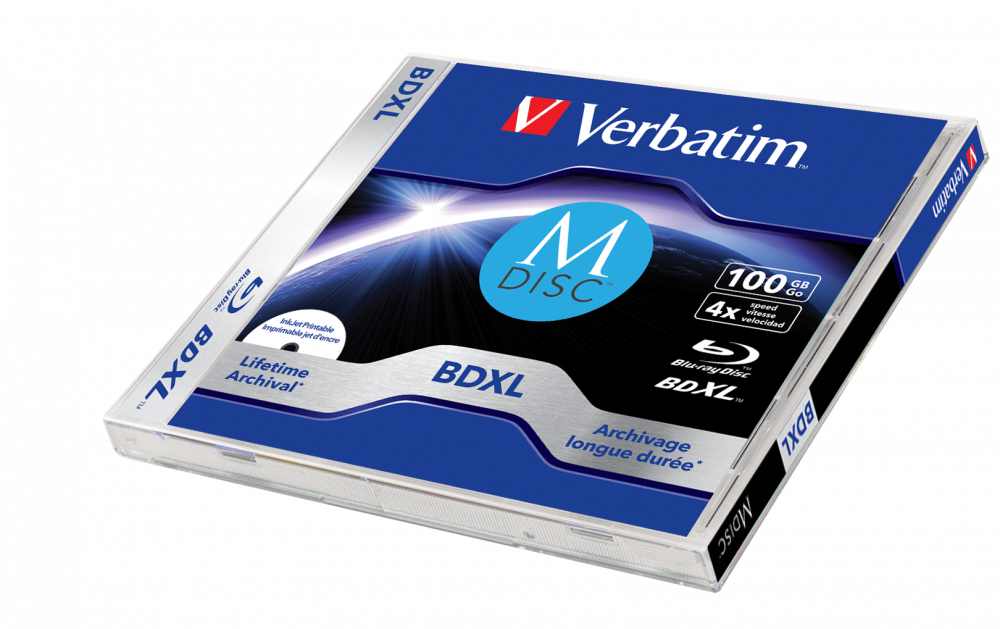 Verbatim MDISC Lifetime archival BDXL 100GB* - 1'li Jewel Kutu