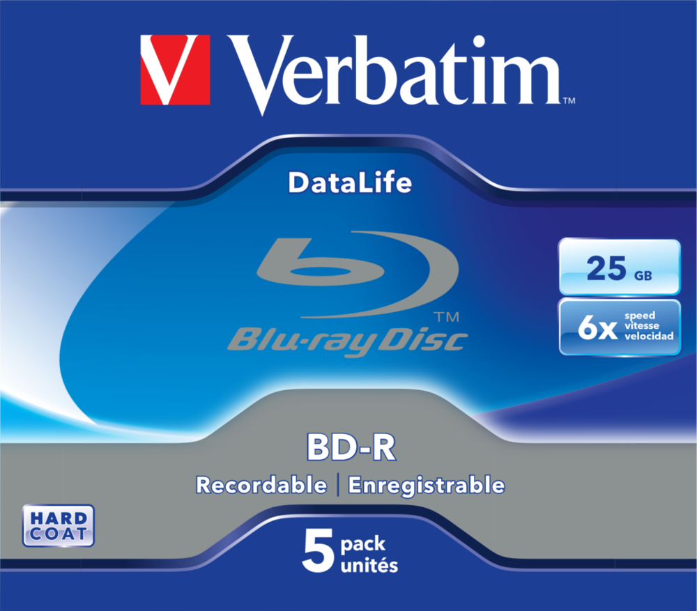BD-R Datalife 25GB* 6x 5 Pack Jewel Case