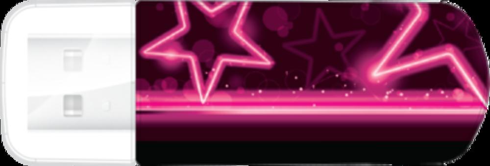 Мини-USB-накопитель Neon Edition 16ГБ* - розовый