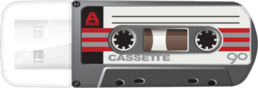 Мини-USB-накопитель Cassete Edition 16ГБ* - черный