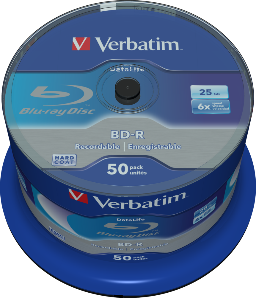 BD-R SL Datalife 25GB* 6x 50 Pack Spindle
