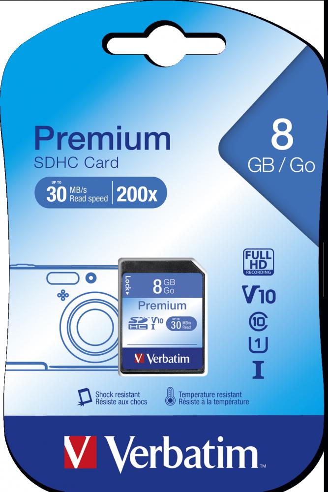 Verbatim Premium U1 SDHC 8GB* Memory Card