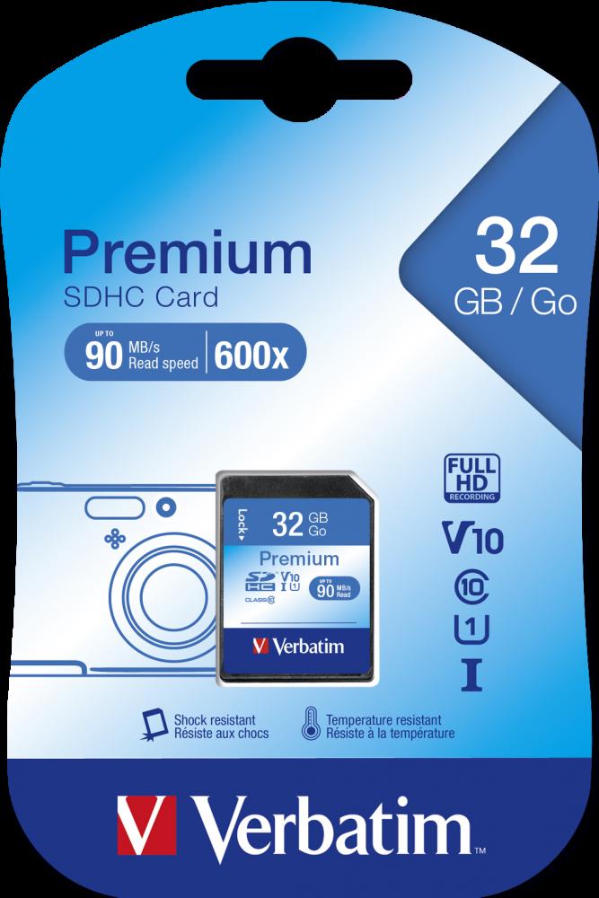 Verbatim Premium U1 SDHC 32GB* Memory Card