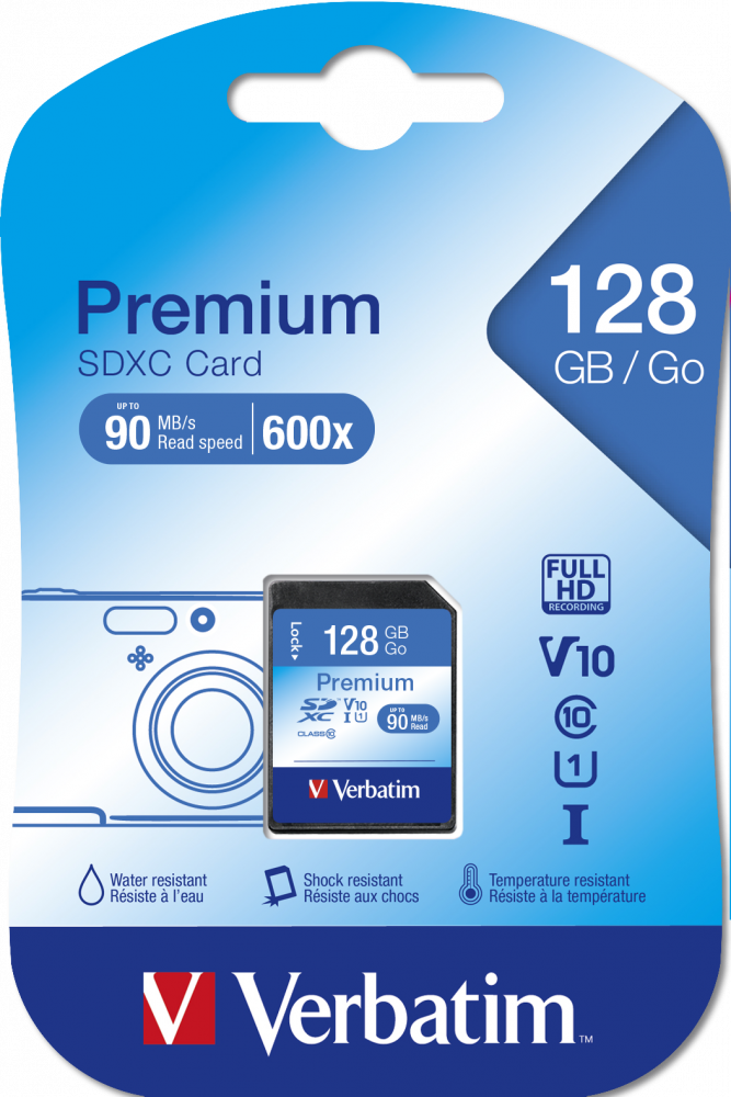 Карта памяти SDXC Verbatim Premium U1 128�ГБ*