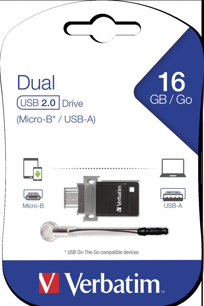 Clé USB à double connectique – OTG/USB 2.0 - 16GB