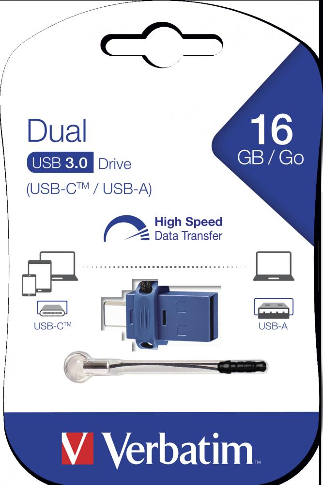 Dual USB Drive USB-C / USB-A 16GB*