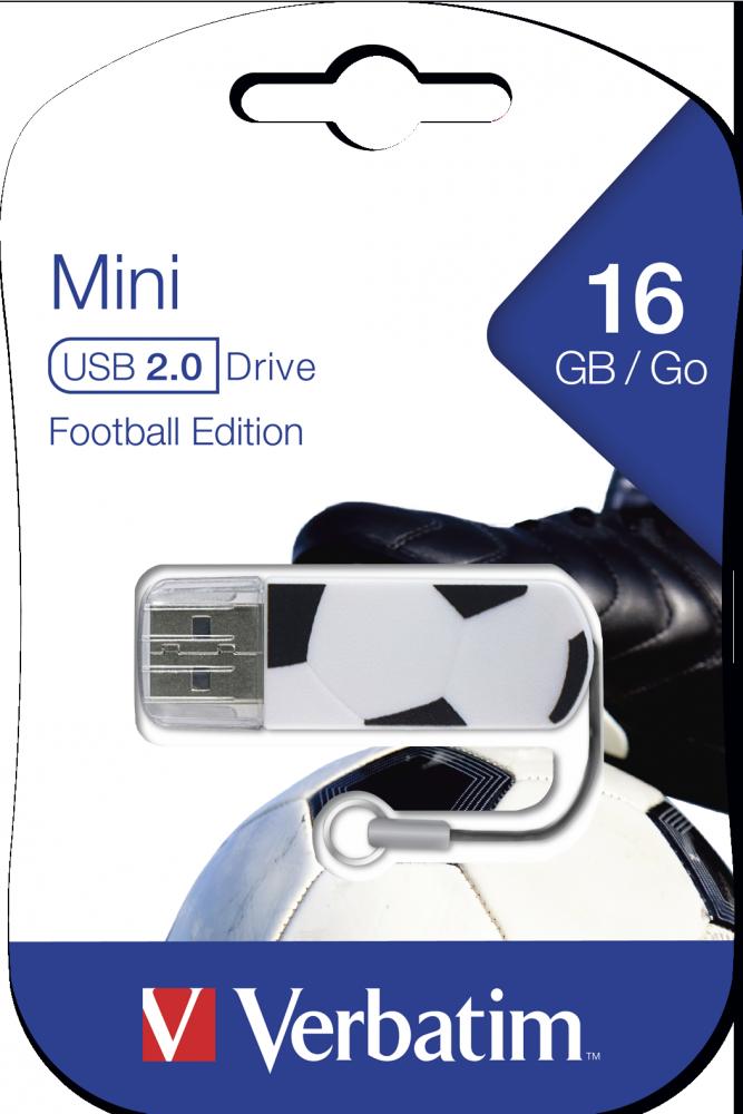 16GB* jednotka USB Mini Sports Edition – fotbal