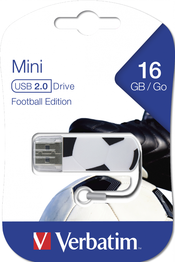 Memoria USB Mini de 16 GB* Sports Edition: Fútbol
