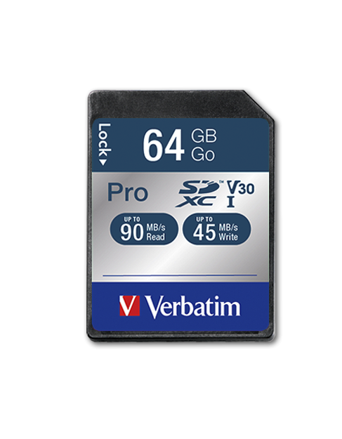 Verbatim Pro U3 64GB* SDXC Card