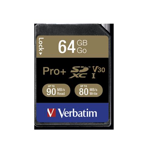 Verbatim Pro+ U3 64GB SDXC Card
