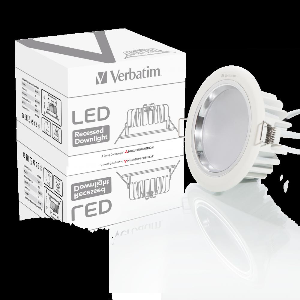 Потолочный светодиодный светильник Verbatim, 104�мм, 11�Вт, 3000�К, 800�лм