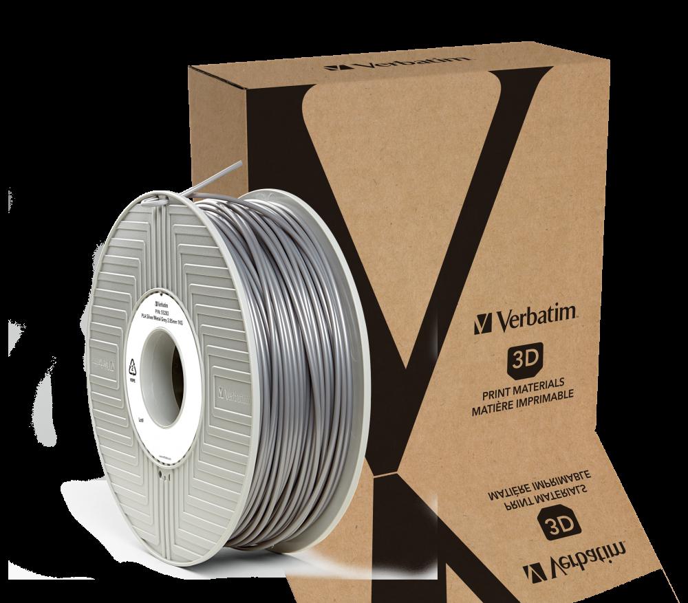 Filamento Verbatim in PLA  2.85 mm 1 kg - Argento