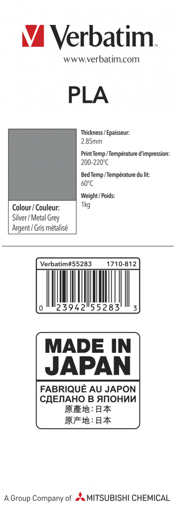 55283 PLA 2.85mm 1kg Label