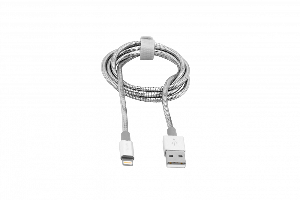 Verbatim Lightning Stainless Steel Sync & Charge Cable 100cm Silver