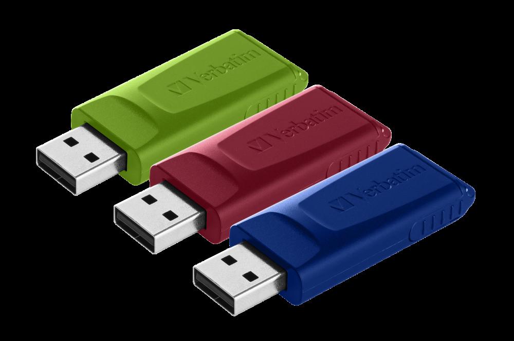 Slider USB Drive - 16GB* multipack