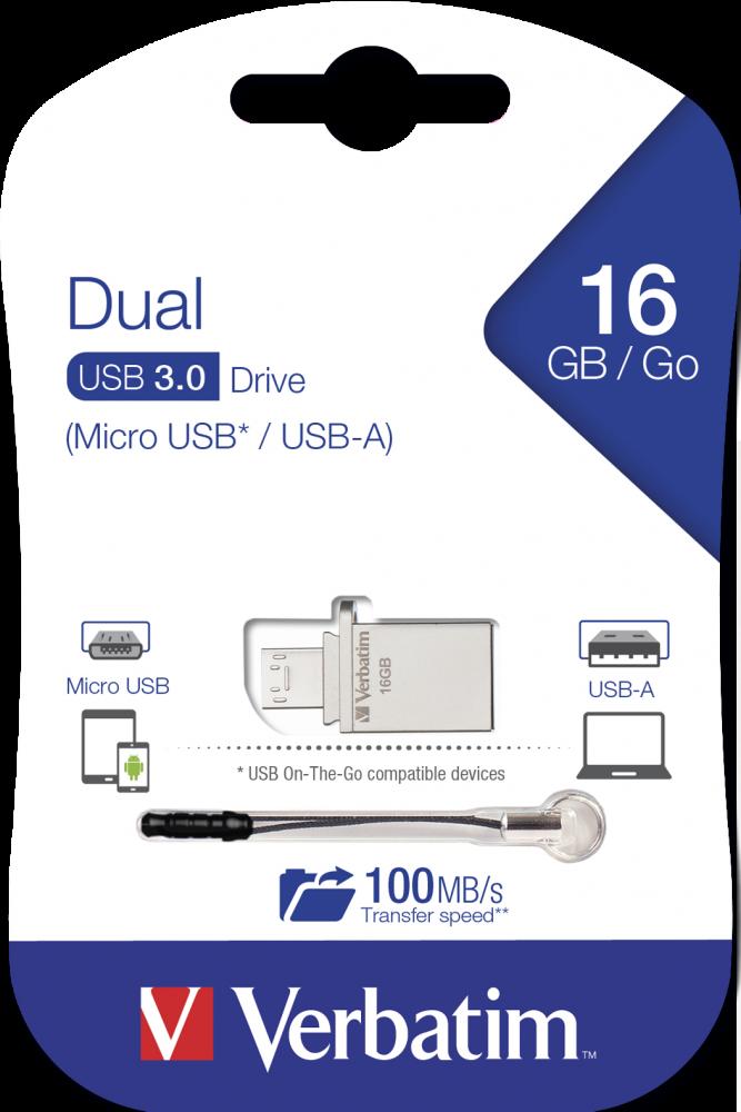 Dual OTG Micro Drive USB 3.0 16GB*
