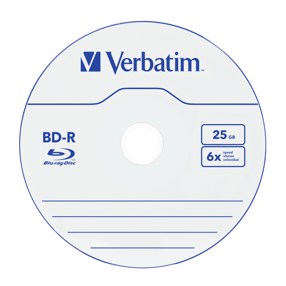 db45a2ca0 Buy Blu-Ray BD-R SL 25GB* 6x 10 Pack Spindle | Verbatim Online Shop