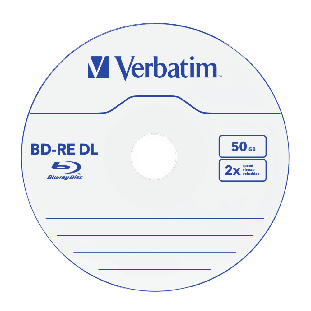 BD-RE DL 50GB 2x 5 Pack Jewel Case