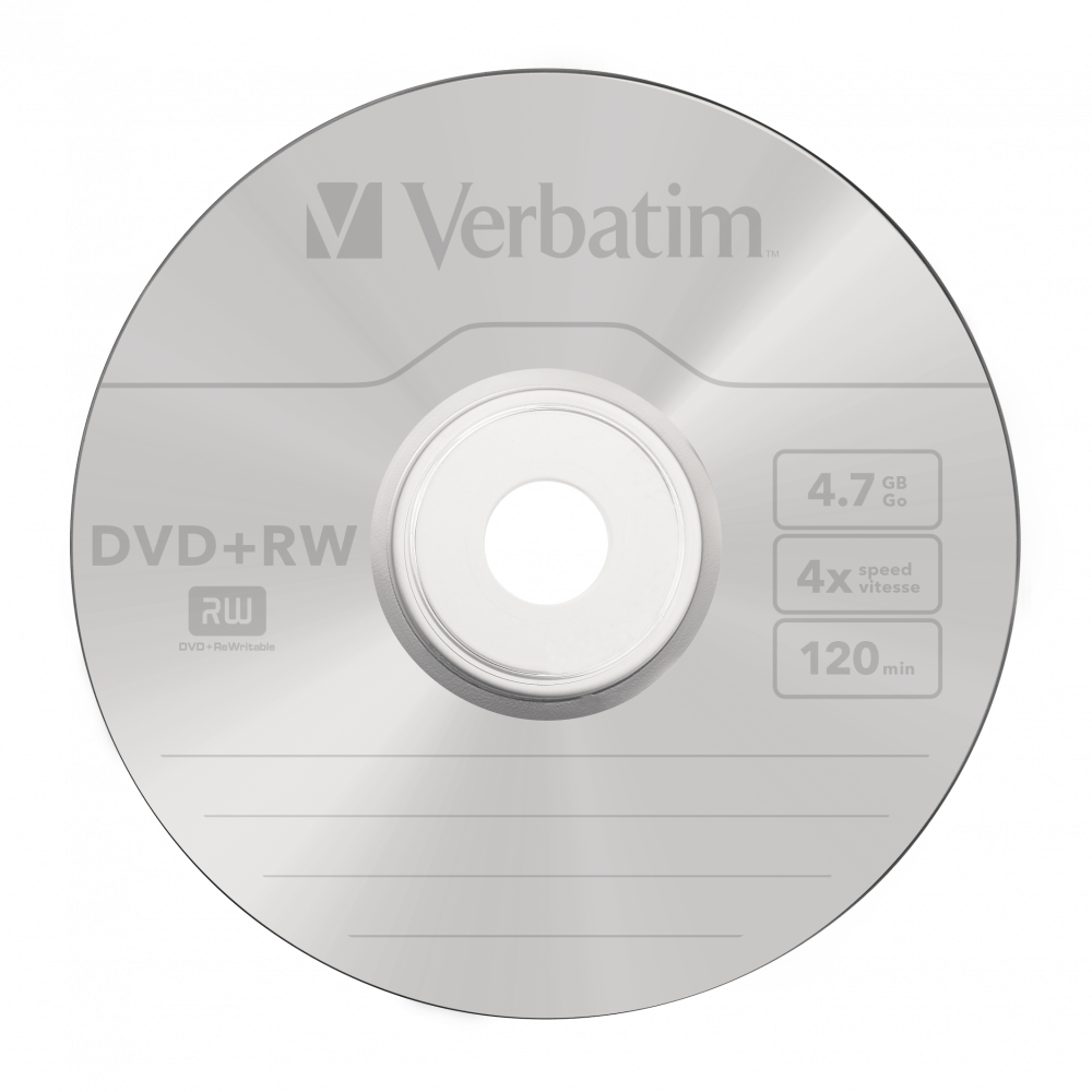 DVD+RW mattsilber