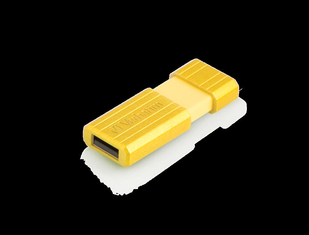 USB-накопитель PinStripe, 16 ГБ* — солнечно-желтый
