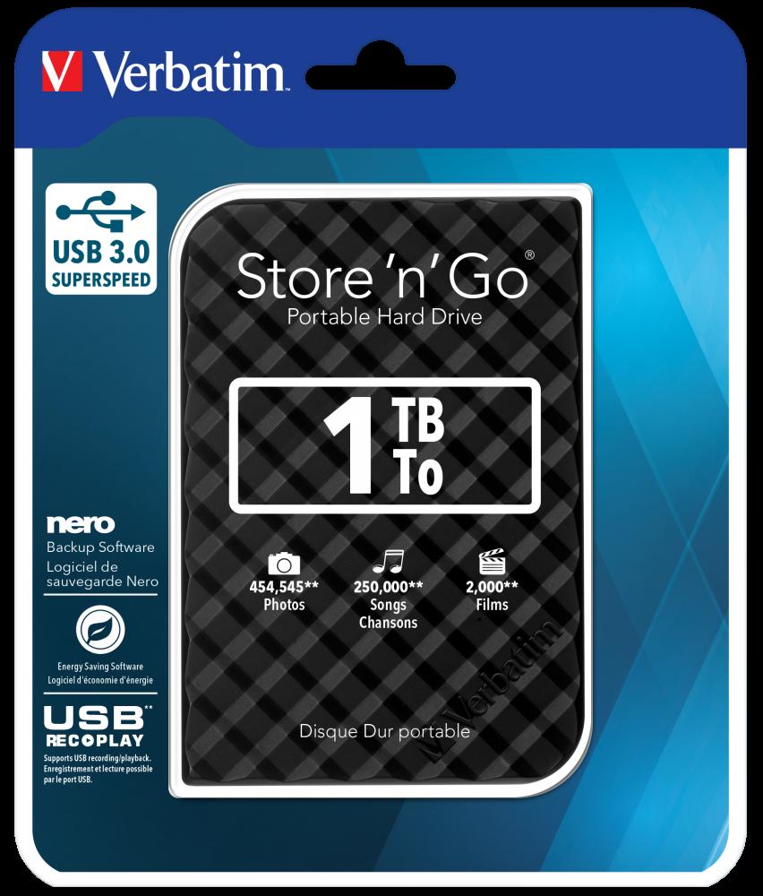 Переносной жесткий диск Store�'n'�Go с интерфейсом USB 3.0, 1�Тб (черный)