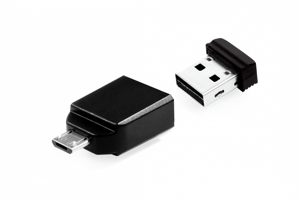 16GB* NANO USB Drive with Micro USB (OTG) Adapter