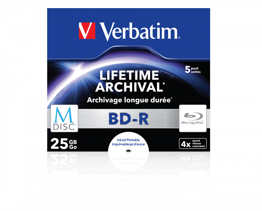 Verbatim MDISC BD-R 5er-Pack, Jewel Case
