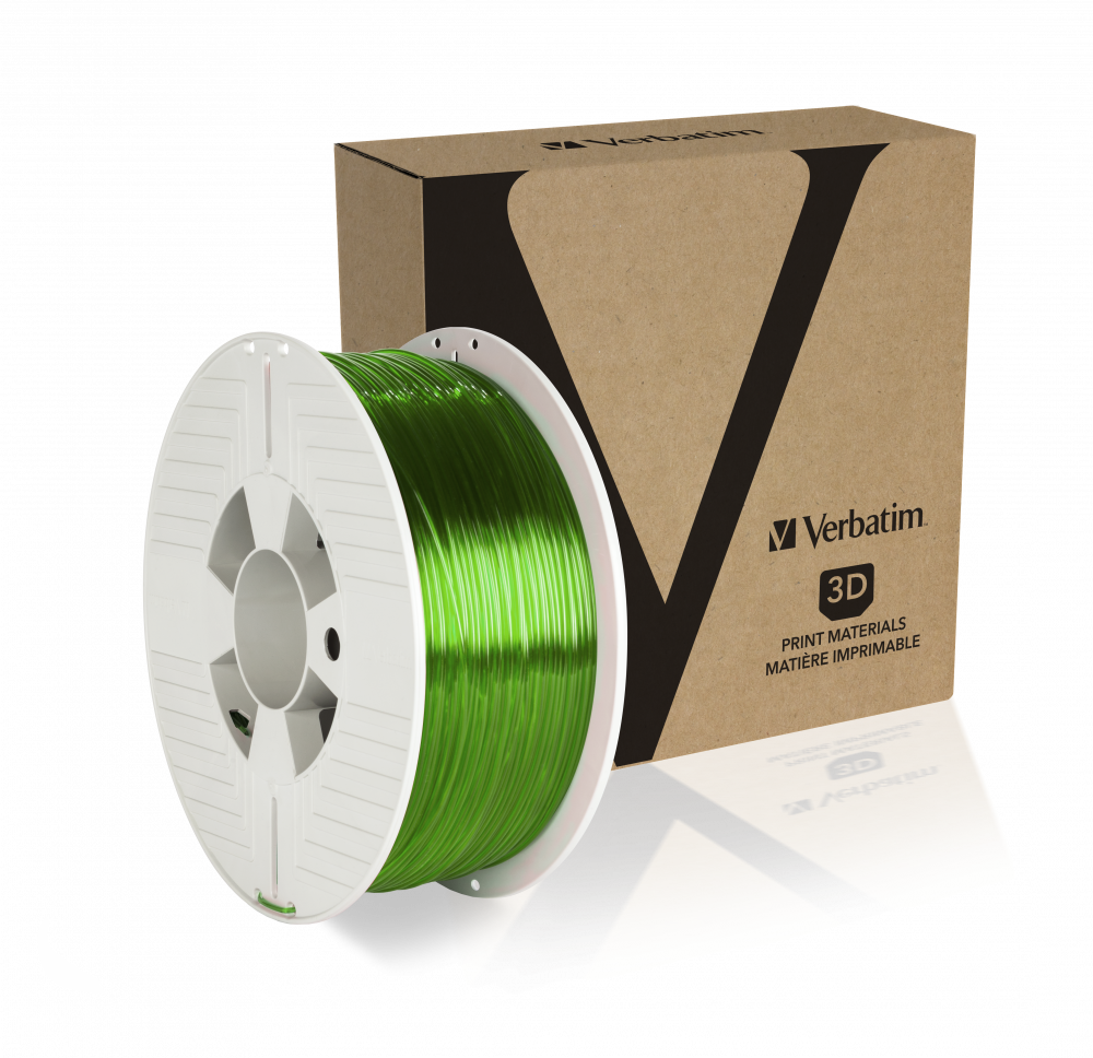 Verbatim PET-G filament 1,75 mm - groen-transparant